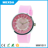 2015 lovely girl quartz wrist silicone strap wholesale fashion watch
