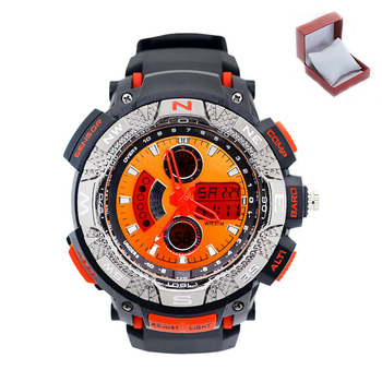 Relogio Water Resistant Chronograph LED Watch Silicone Sport Watch