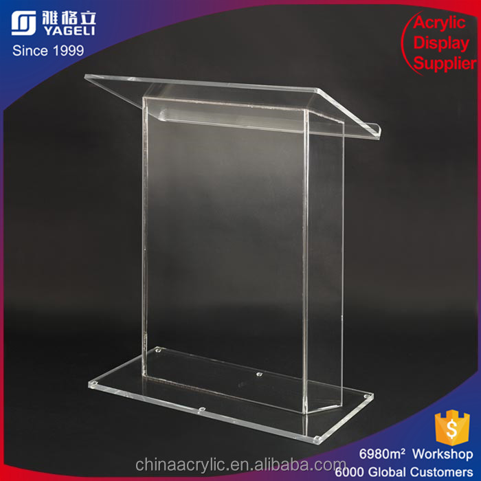 Clear Perspex clear church pulpit acrylic plexiglass rostrum or podium