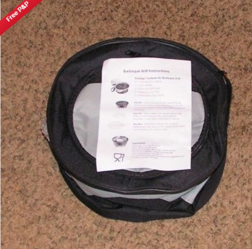 "Portable GRILL and COOLER (New) - Barbeque In A Bag - 10"" Pit - 10"" Cooler"