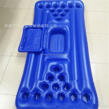 pvc inflatable beer pong table / inflatable 20 holes cup holder mattress / inflatable floating mat