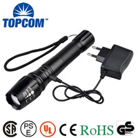 New Type 10W High Power Style XML T6 LED Rechargeable Flashlight For Emergency,Hunting