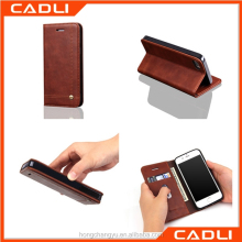 smart magnetic Pu leather wallet case phone case leather for iphone 5 5s se
