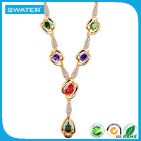 Wholesale Indian Jewelry Gold Design Emerald Necklace