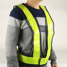 BK01 Best Seller Blue Mesh Led Reflective Safety Vest
