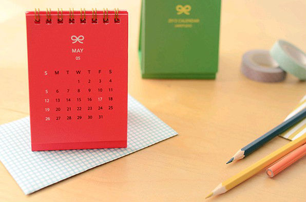 mini table calendar paper customized small calendar for gift