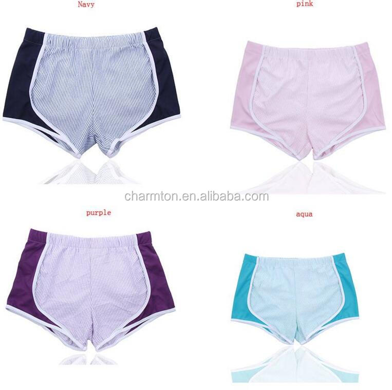 Wholesale Monogrammed Personalized seersucker running shorts
