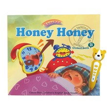 Digital Baby Toys Touch Reading Pen and English Books Honey Honey for Kids to Learn English Vocabulary 2 Books EB08