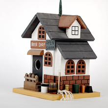 PERFECT wooden bird house and feeder parts
