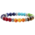 SN0772 7 Chakra Mala Bracelet Womens Yoga Healing beads bracelet gifts for her