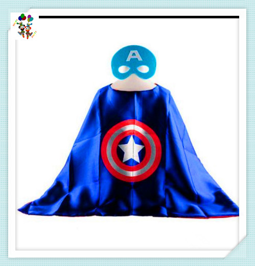 Captain American Party Fancy Dress Up Superhero Capes for Kids HPC-2323