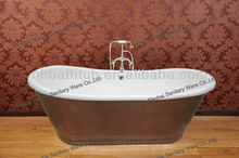 Cast iron bath with copper skirt, high art sanitary ware, 2012 new design