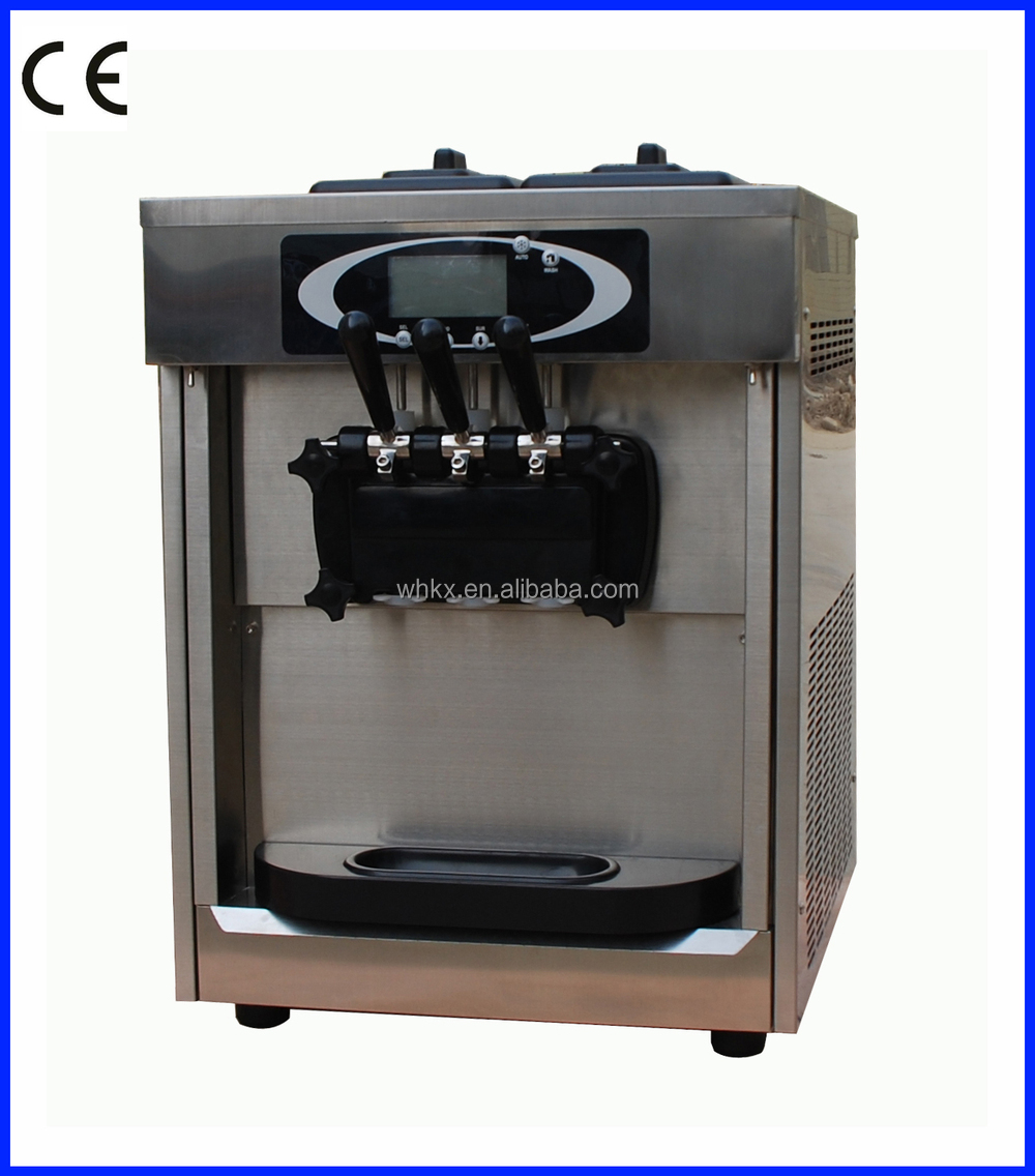 stainless steel color ice cream maker commerical appliance machine