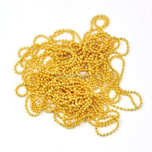 Decorative metal colored ball bead chain for necklaces designs