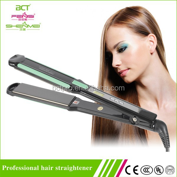 "Good quality ceramic technology plate hair straightener 1.5"" fast flat irons with private label"