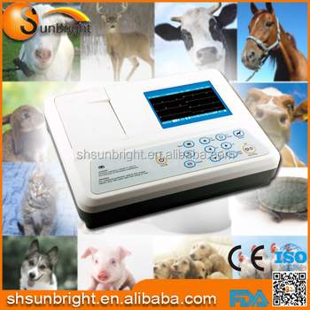 FDA and CE approved Digital Veterinary ECG / EKG 3 Channel Portable Electrocardiograph machine for Vet