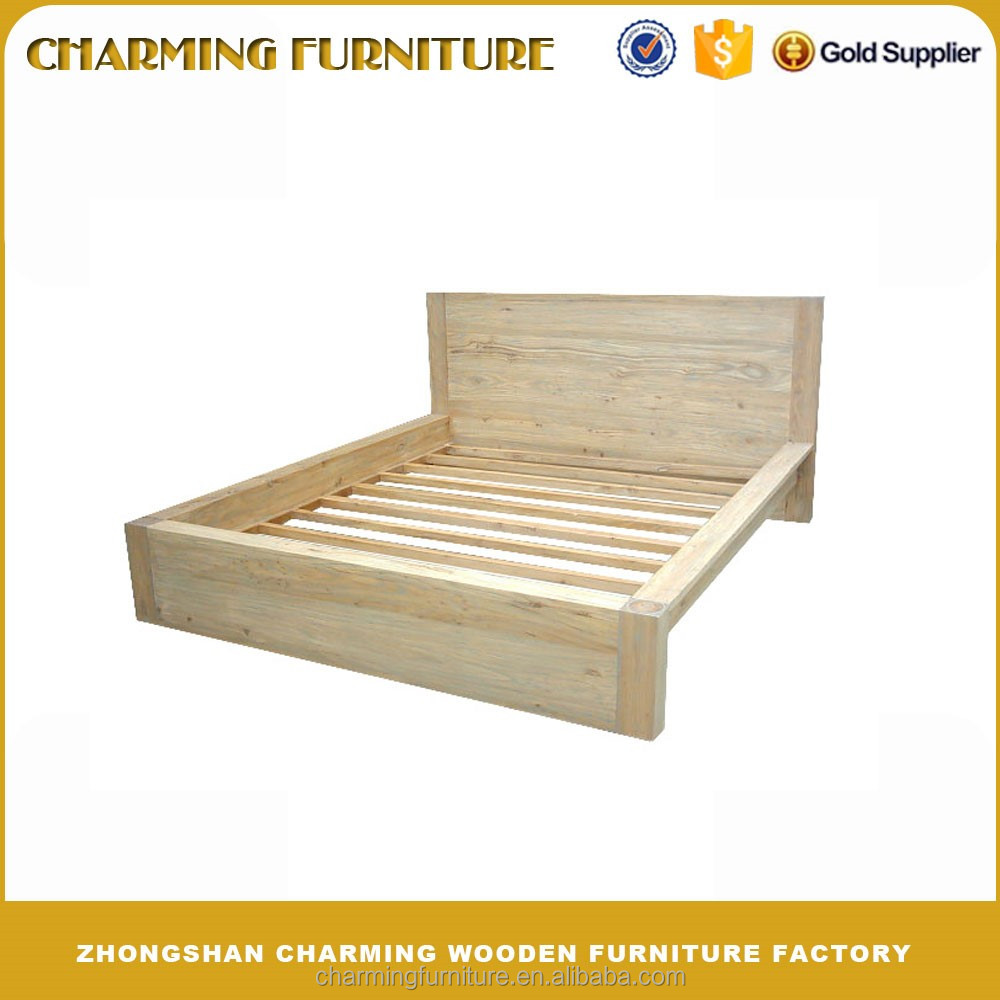 Reclaimed Solid Wooden Beds Bedroom Furniture #9653
