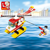 Hot Sluban building block ABS plastic decool fire fighter helmets products to sell online