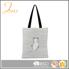 Eco-friendly cotton canvas single shoulder shopping bags