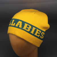 CHEAP WHOLESALE FOOTBALL TEAM KNIT BEANIE WITH EJACQUARD LETTERS