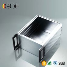 Logo Screen Printing Custom Extrusion Aluminum Box as LED Driver Cabinet CPE Outer Shell