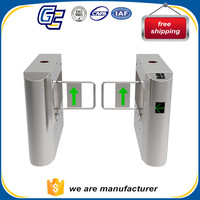 stainless steel fingerprint access control swing security gate for entrance