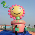 Giant Smile Decor Helium Floating Inflatable Plane Sunflower Flowerpot Model Balloon
