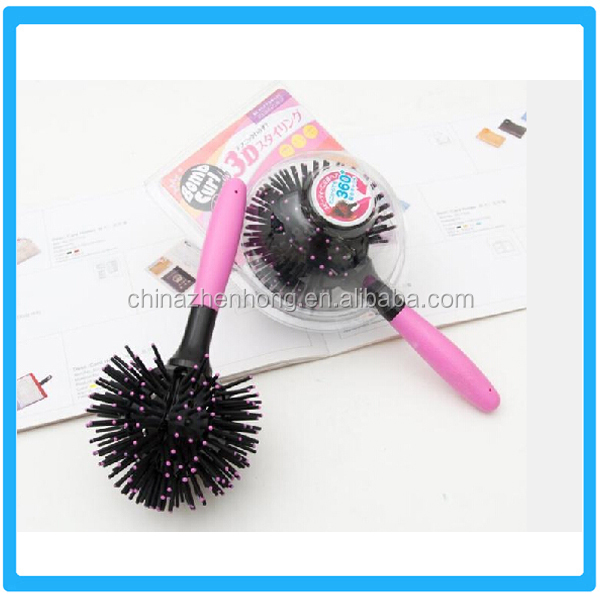 3D Spherical Hair Brush Comb Barber Comb Professional Hair Brush Comb Straightener