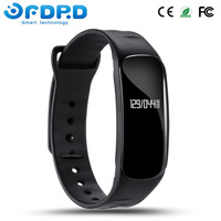 Sport Health Silicone Rubber Wrist Smart Fitness Bracelet Watch Band