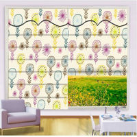 hot sell lovely pink folded roman blind/roman blind farbic