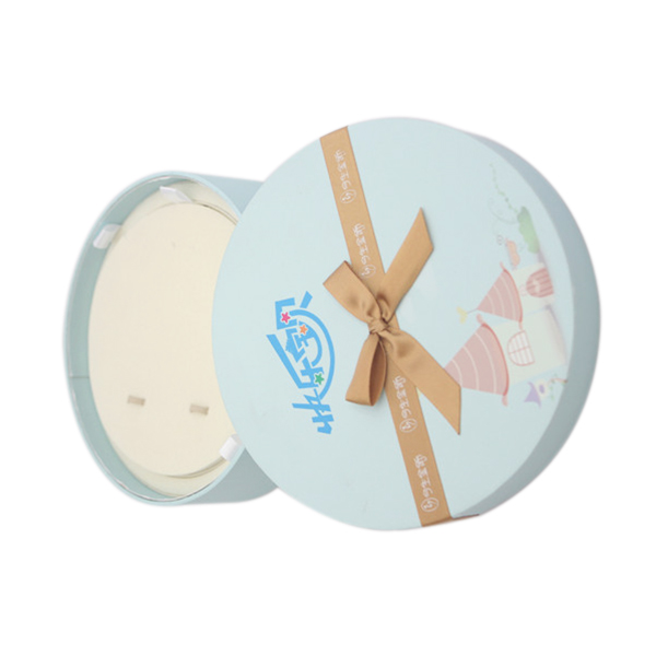 Fancy jewelry gift boxes round cardboard round jewellery box for kids bracelet packaging