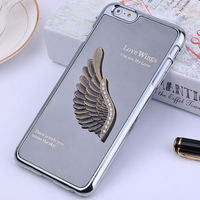 Promotion wing pattern aluminum case for iPhone 6 plus,PC case for iPhone 6 plus
