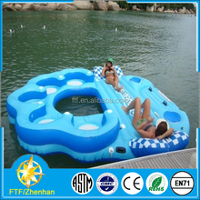 2015 one of the most popular selling cheap high quality portable inflatable floating island toys