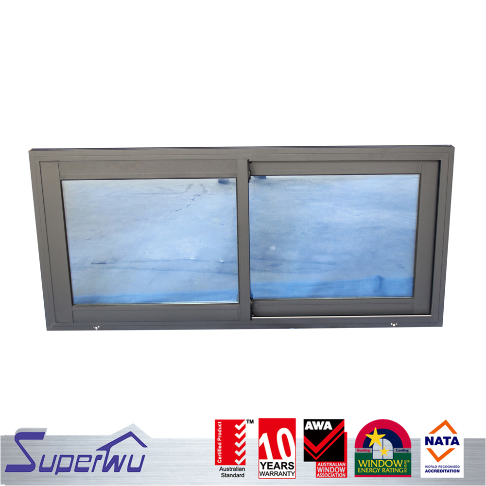 Luxury design white color aluminum glass warehouse sliding shed panel window