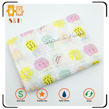 2017 New Style High Absorbent Organic Cotton Muslin Baby Swaddle Blanket