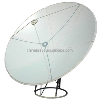 2.4m240 cm c band satellite ground mount dish antenna