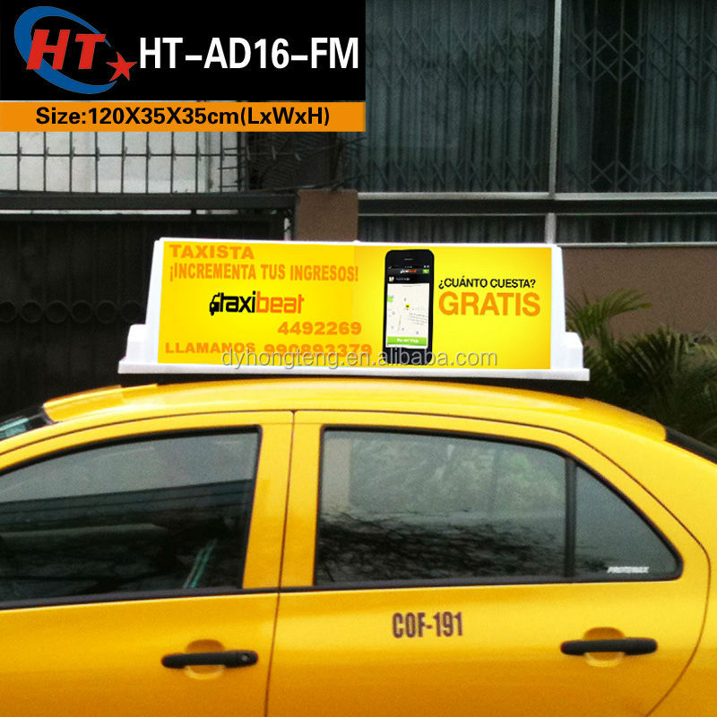 HT manufacturer led taxi top <strong>advertising</strong>