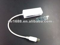 Micro USB to RJ45 adapting cable