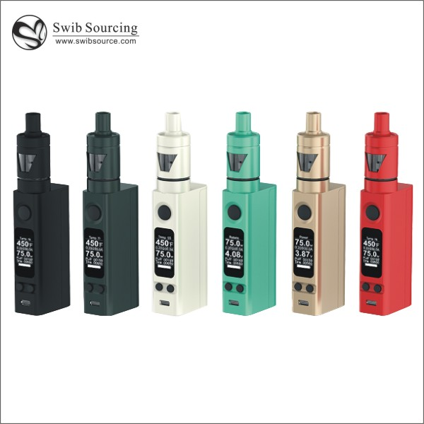 High quality 100% Authentic Hot selling huge vapor Original Joyetech evic vtc mini 75W kit with tron-s/tron-t from Swib