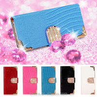 For Apple iPhone 5 5S Magnetic Diamond Wallet PU Leather Flip Case Cover