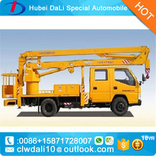 4x2 right hand drive 14 meters fold arm type High altitude working platform Aerial truck crane truck with working bucket