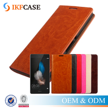 Anti-scratch credit card holder phone case for Huawei p8 lite,custom leather cell phone flip cover case for iphone7/7plus