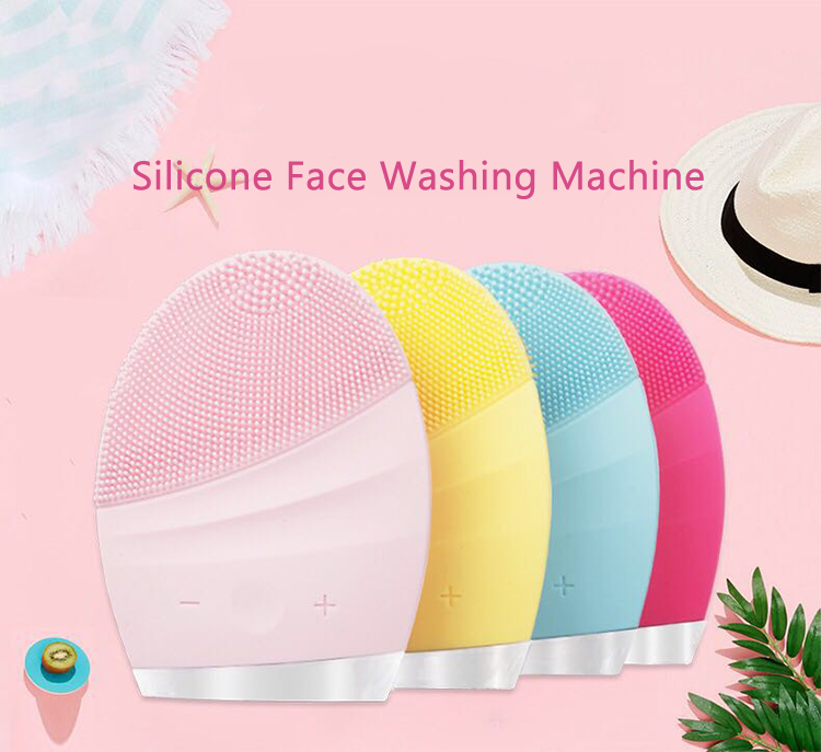 China wholesale Rechargeable mini electric massager silicone facial cleanser