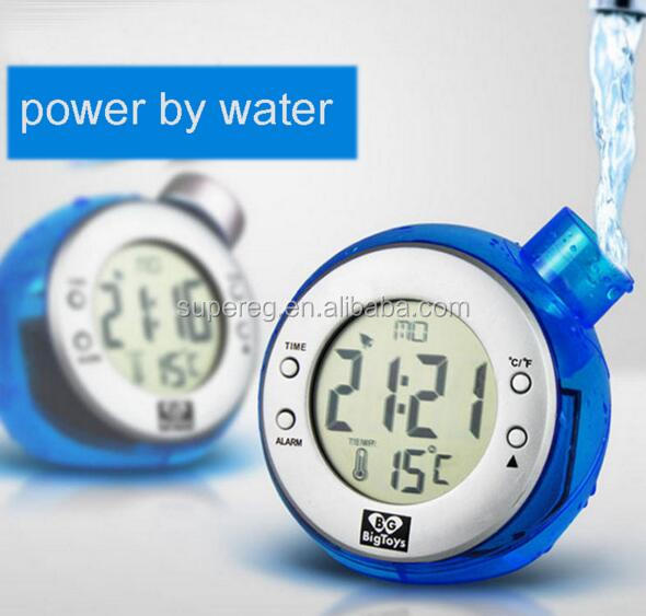 Best Creative Eco- friendly Water Power Alarm Clock Without Battery, Water Power Completely