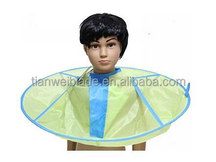 Kids Hair Cutting Cape Haircut Gown Hairdresser Apron Blue Cloak Clothes For Haircut