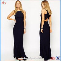 Hot sexy maxi dress with fishtail ladies fashion dresses with pictures japanese free prom