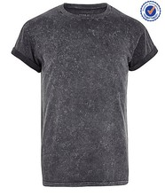brand quality comfort cotton short sleeve pocket wholesale acid wash t shirts