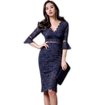 2018 Baru Musim Panas Wanita Casual Dresses Biru Cocktail Dress Vestido De Festa Cina
