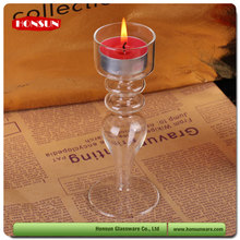 Pyrex heat resistant borosilicate glass pillar candle holders wholesale