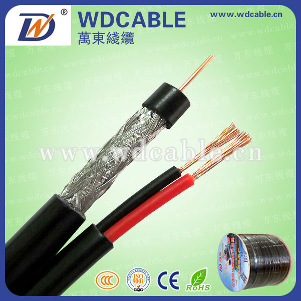 china price RG59, RG59+2 electrical power cable Siamese Cable for CCTV camera & DVR cctv communication coaxial cable